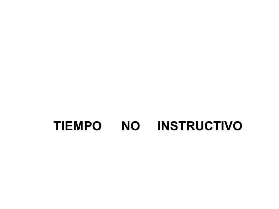 TIEMPO NO INSTRUCTIVO