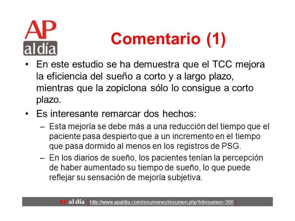 AP al día [ http://www.apaldia.com/resumenes/resumen.php?idresumen=300 ] Conclusiones Los autores concluyen que las intervenciones basadas en el TCC s