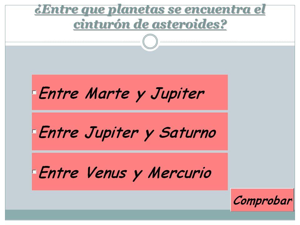 ¿Entre que planetas se encuentra el cinturón de asteroides?