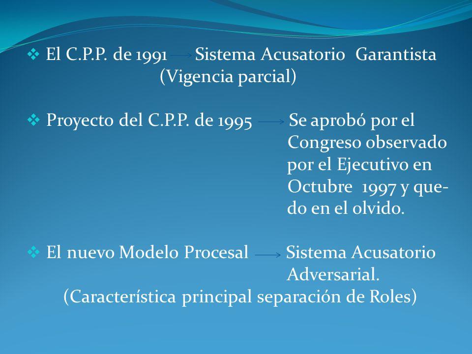 En el nuevo C.P.P.los principios se encuentran en el Titulo Preliminar: I.