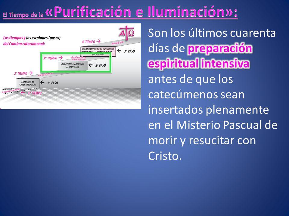 escrutinios Unas Celebraciones de fortalecimiento («escrutinios») aspiran a profundizar la conversión a Cristo.