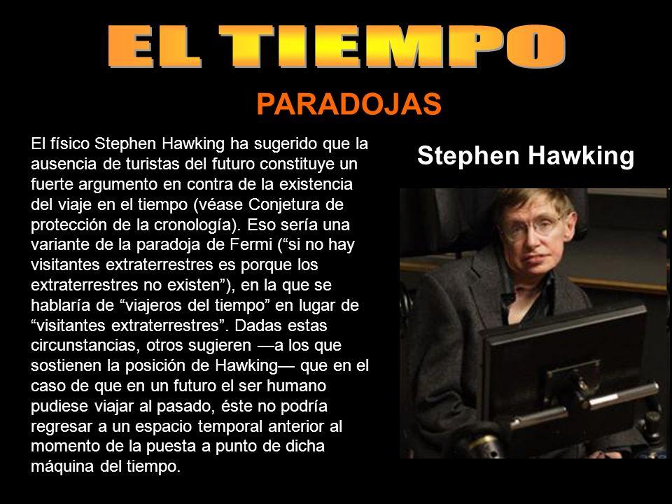 El físico Stephen Hawking ha sugerido que la ausencia de turistas del futuro constituye un fuerte argumento en contra de la existencia del viaje en el tiempo (véase Conjetura de protección de la cronología).