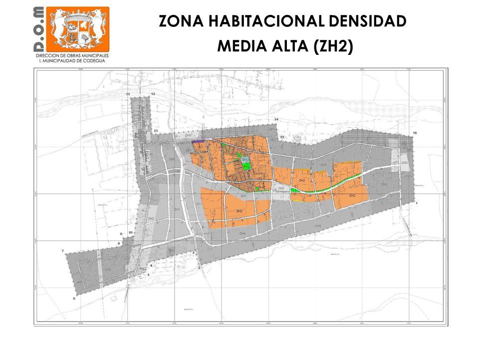 Zona semi consolidada Principalmente al Sur de Calle Estancilla ZONA HABITACIONAL DENSIDAD MEDIA ALTA (ZH2)