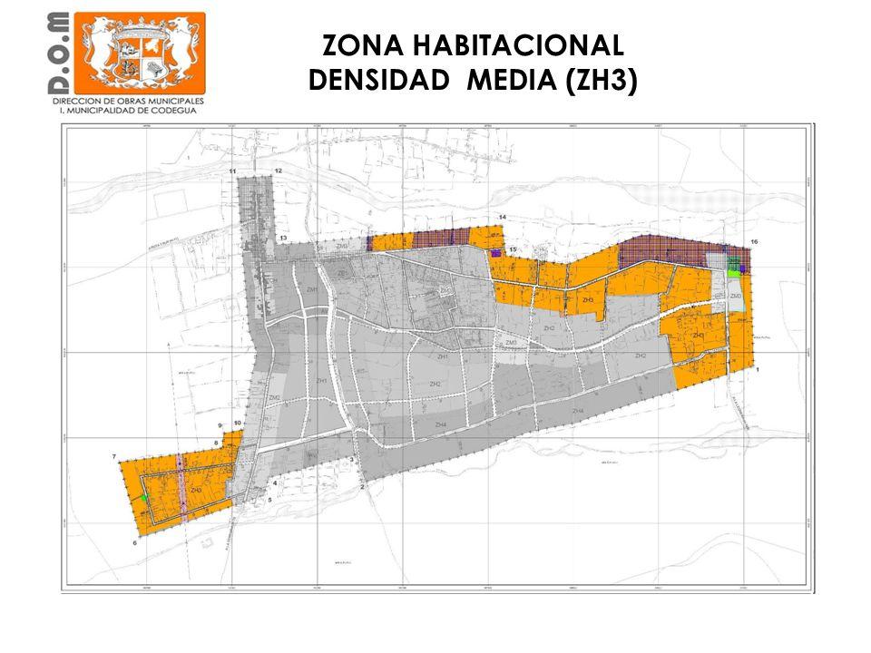 En torno a la Calle Estancilla y el Oriente hacia la Leonera ZONA HABITACIONAL DENSIDAD MEDIA (ZH3)
