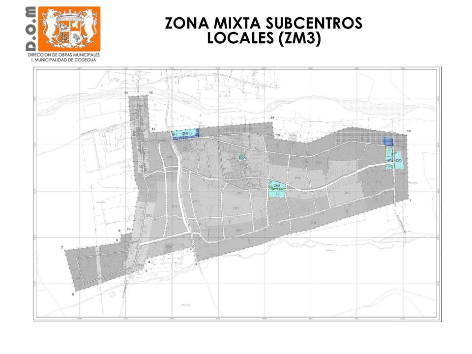 En torno a la Calle Estancilla, camino Vecinal y otra en Calle Proyectada ZONA MIXTA SUBCENTROS LOCALES (ZM3)