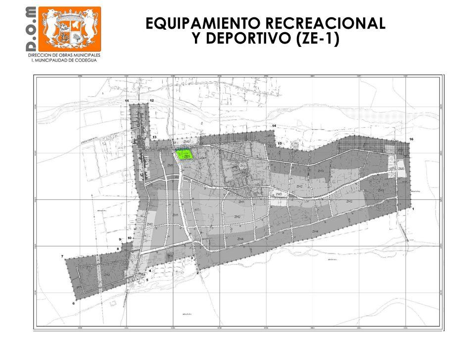 Barrio Cívico EQUIPAMIENTO RECREACIONAL Y DEPORTIVO (ZE-1)