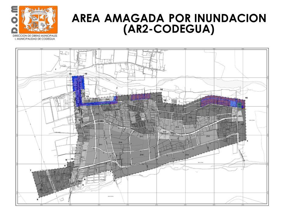 AREA AMAGADA POR INUNDACION (AR2-CODEGUA)