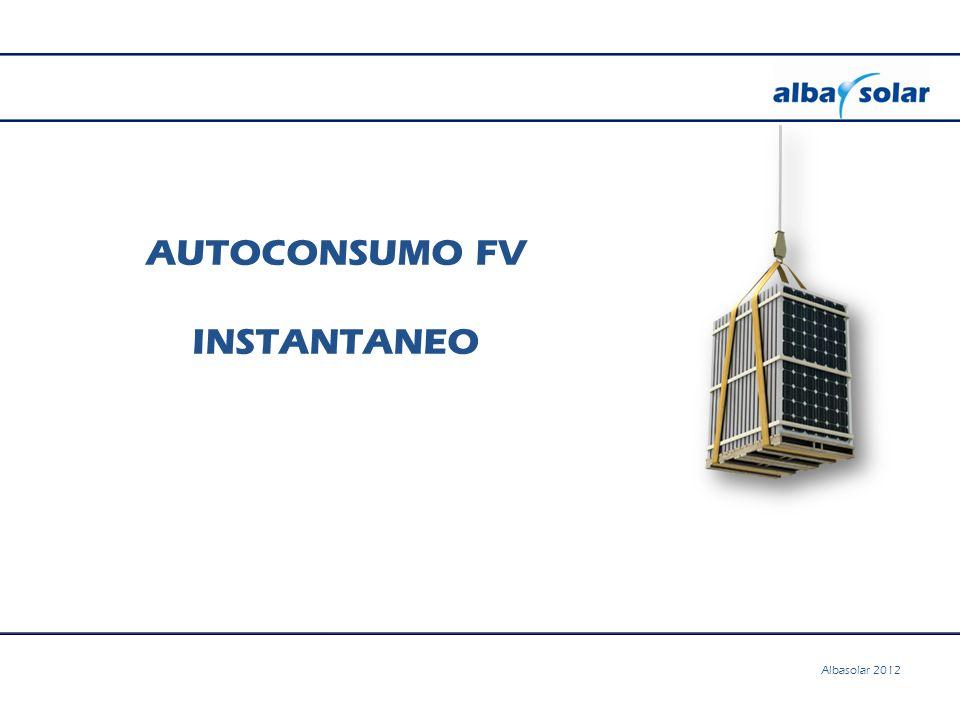 AUTOCONSUMO FV INSTANTANEO Albasolar 2012