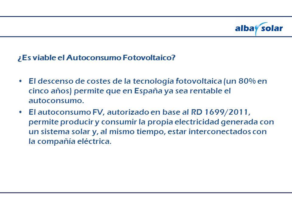 ¿Es viable el Autoconsumo Fotovoltaico.