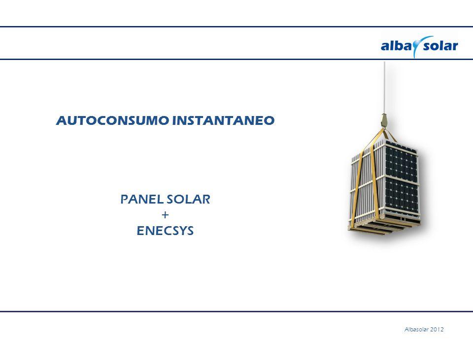 AUTOCONSUMO INSTANTANEO PANEL SOLAR + ENECSYS Albasolar 2012