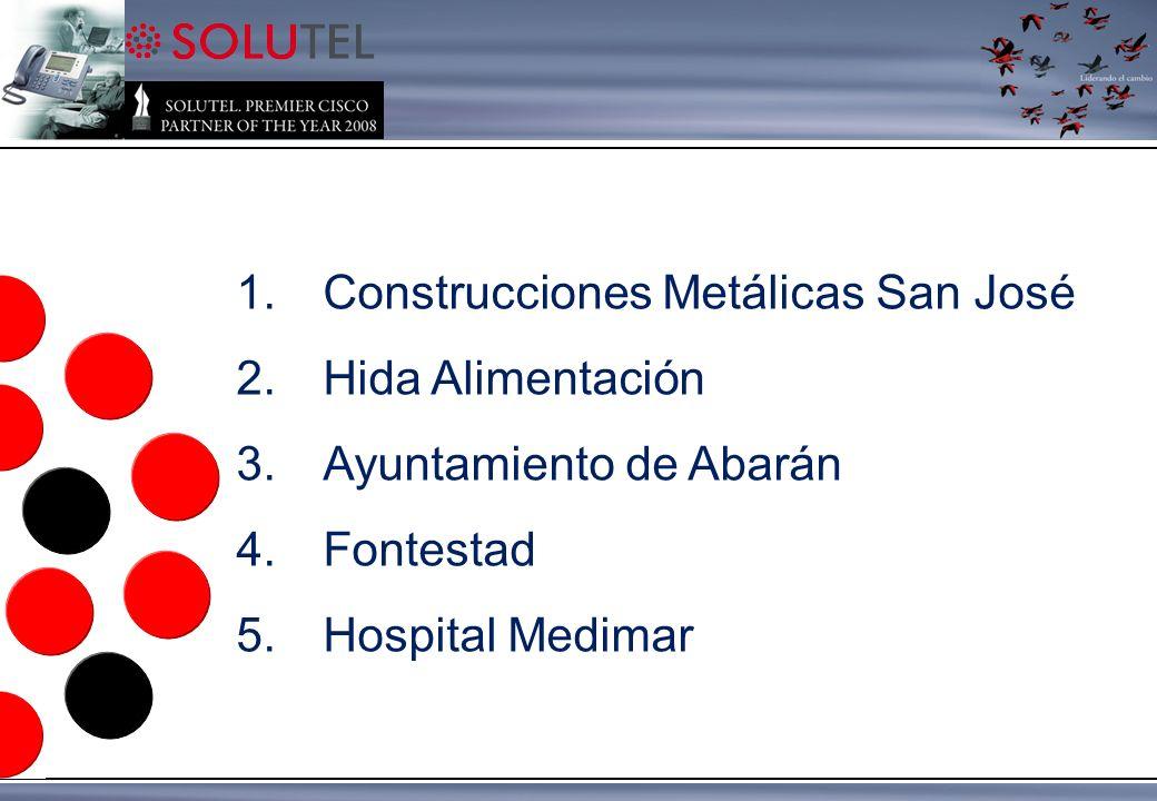 1.Construcciones Metálicas San José 2.Hida Alimentación 3.Ayuntamiento de Abarán 4.Fontestad 5.Hospital Medimar