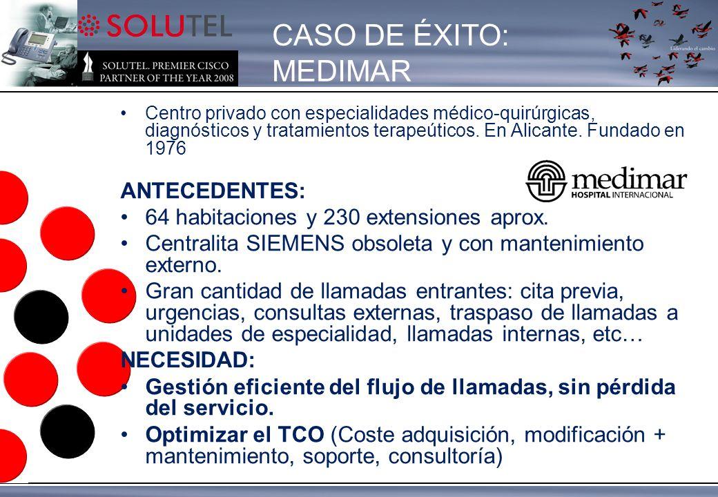Centro privado con especialidades médico-quirúrgicas, diagnósticos y tratamientos terapeúticos.