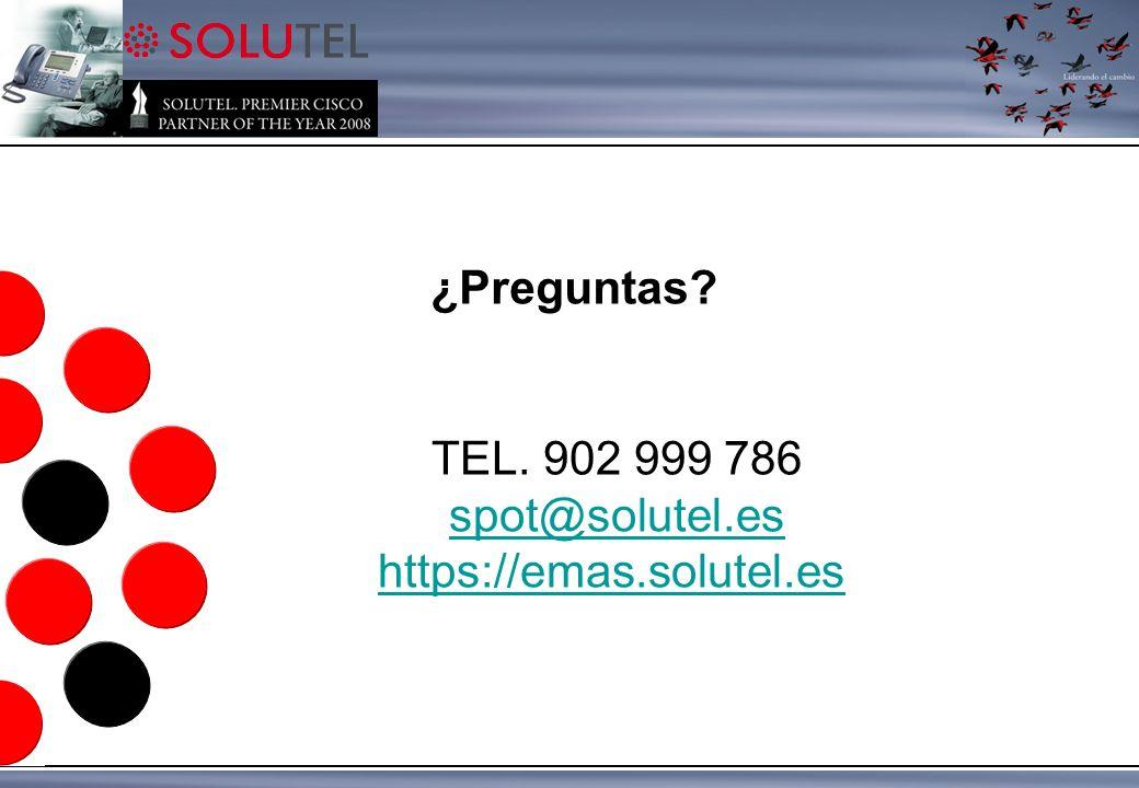 TEL. 902 999 786 spot@solutel.es https://emas.solutel.es ¿Preguntas