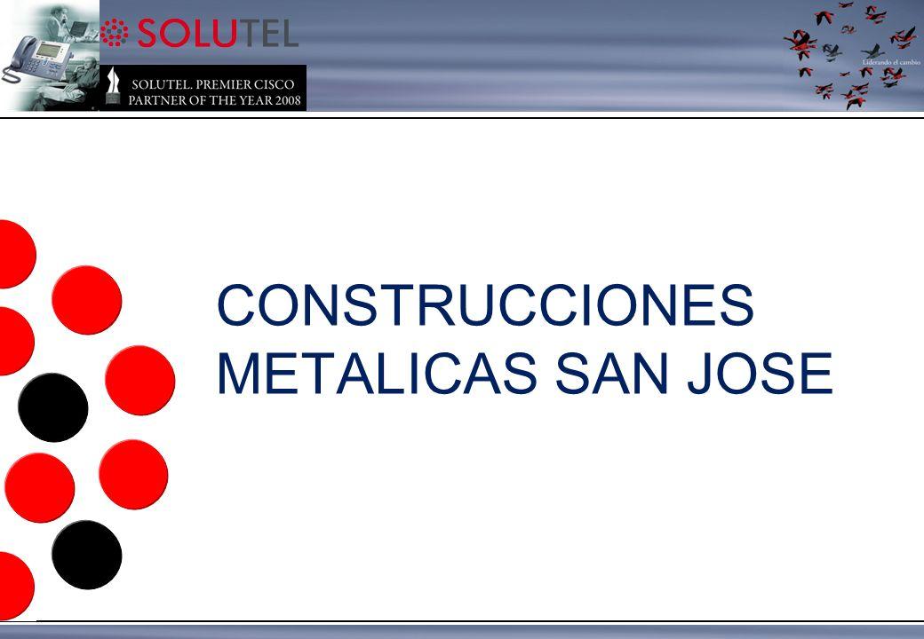 CONSTRUCCIONES METALICAS SAN JOSE UC500 / 5 extensiones Diseño, Integración y soporte de Telefonia IP para la gestión de llamadas CASO DE ÉXITO: CONSTRUCCIONES METALICAS SAN JOSE