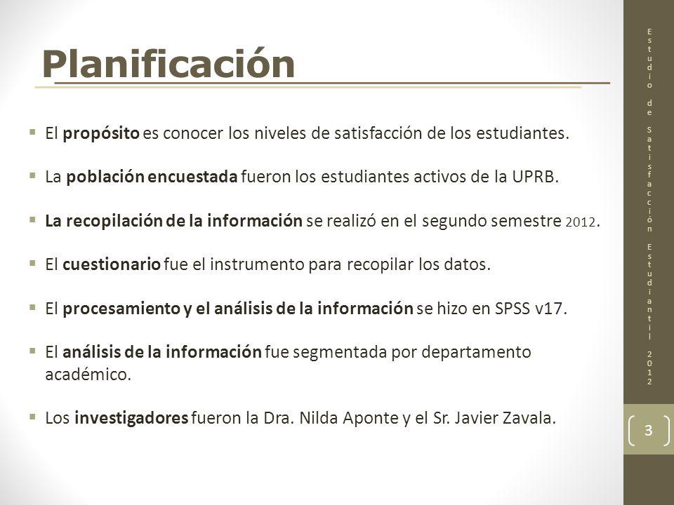 COMENTARIOS Y PREGUNTAS 14 EstudiodeSatisfacciónEstudiantil2012EstudiodeSatisfacciónEstudiantil2012