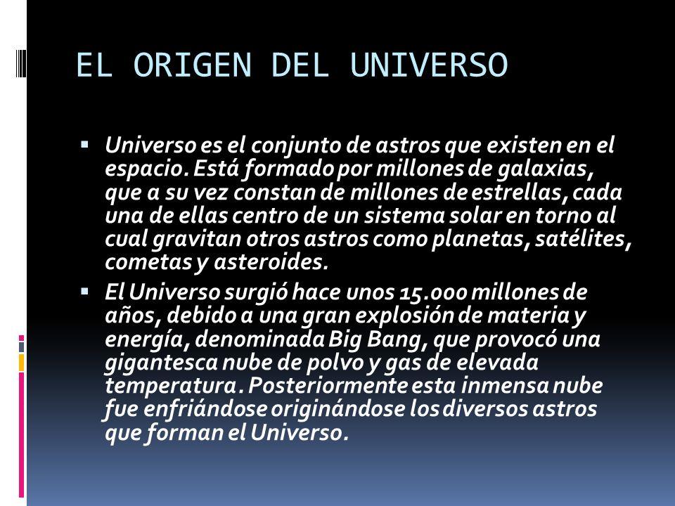 *ORIGEN DE LA TIERRA *ORIGEN DE LA VIDA EL ORIGEN DEL UNIVERSO