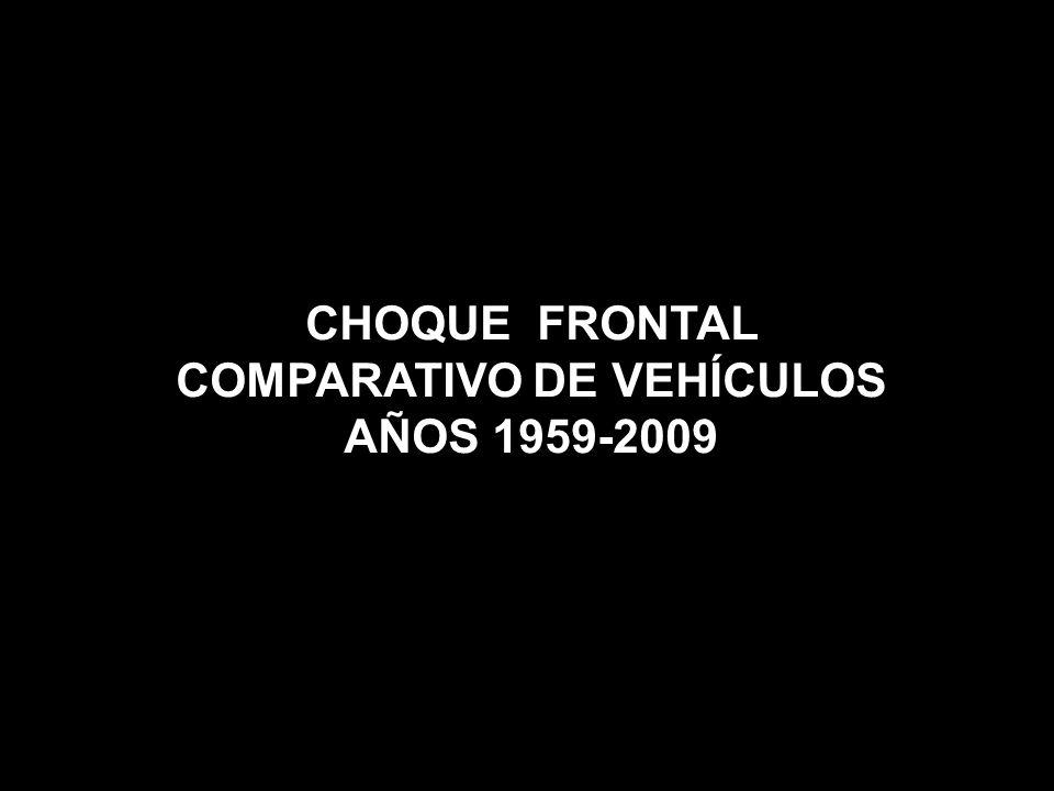 CHOQUE FRONTAL COMPARATIVO DE VEHÍCULOS AÑOS 1959-2009