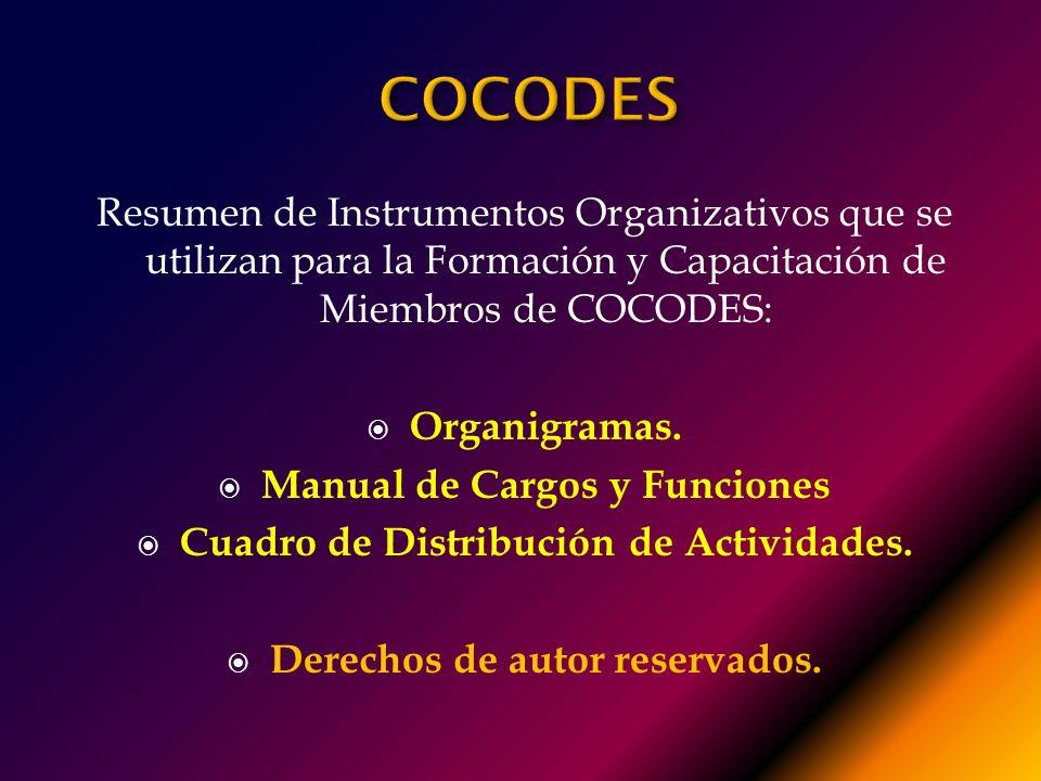 ACTIVIDADPERSONA QUE EJECUTA CARGO EN EL COCODE TIEMPO PROMEDIO 1. 2. 3. 4. 5.