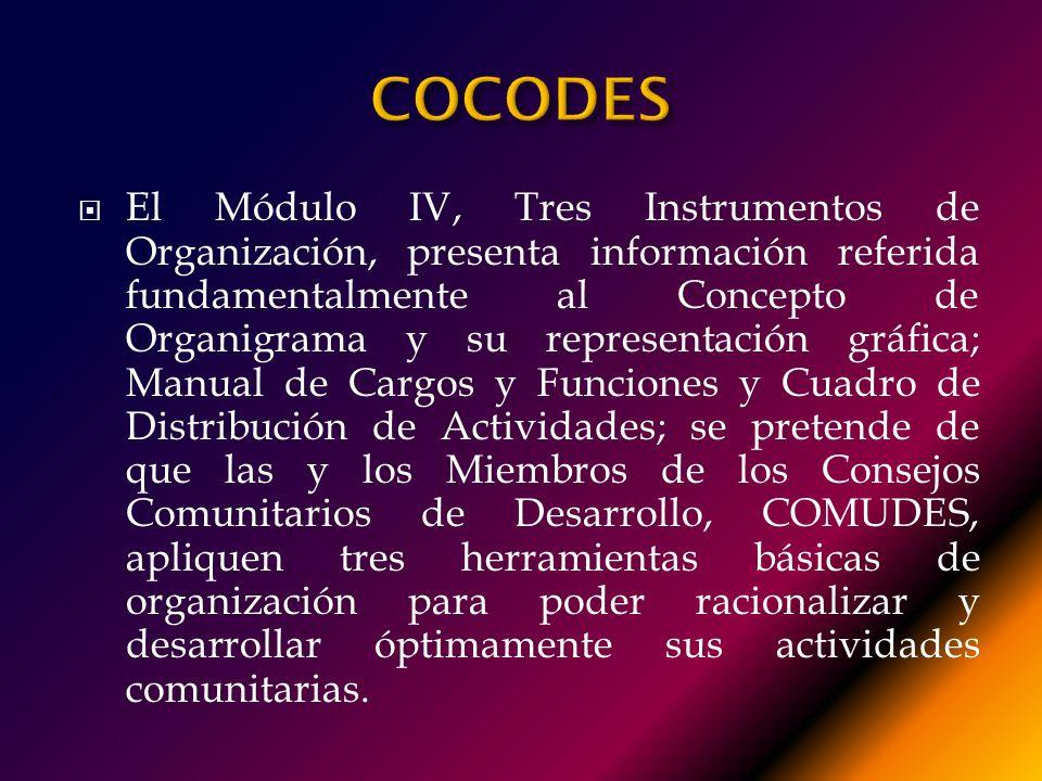 MÓDULO IV VERSIÓN EJECUTIVA CONTENIDO: Tres Instrumentos de Organización: Autor: Jon Kraker Rolz Bennett. Centro Universitario de Oriente, CUNORI. Uni