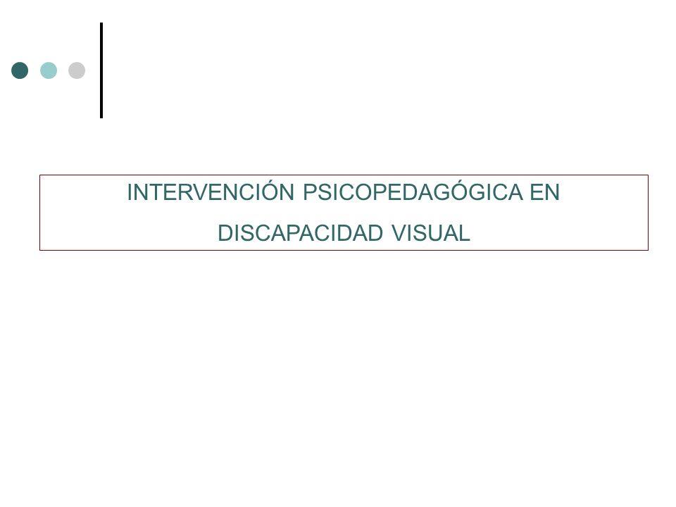 INTERVENCIÓN PSICOPEDAGÓGICA EN DISCAPACIDAD VISUAL