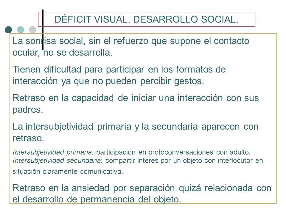 DÉFICIT VISUAL.DESARROLLO SOCIAL.