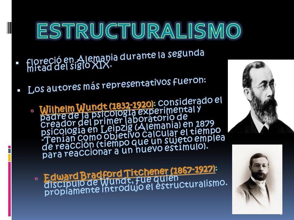 Antecedentes del Estructuralismo La psicología de Wundt.