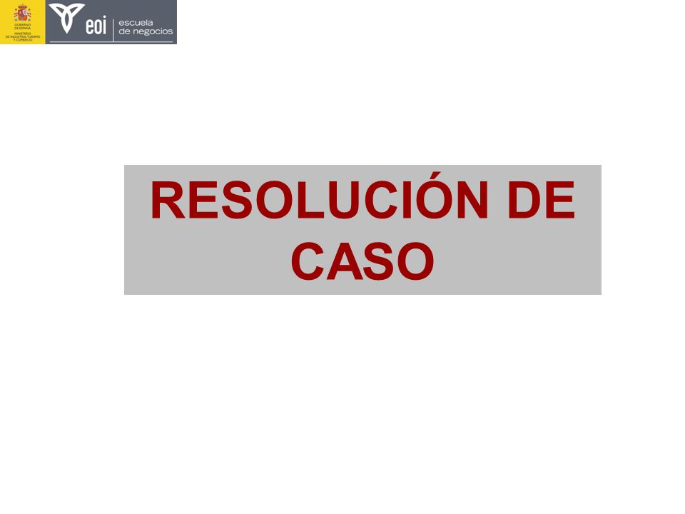 RESOLUCIÓN DE CASO