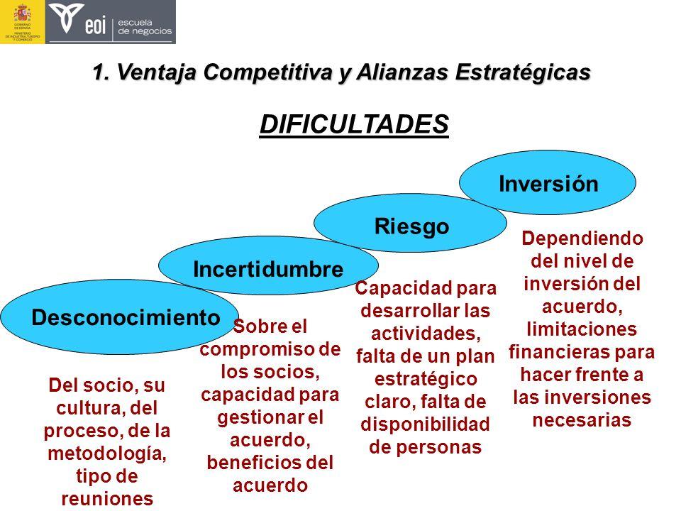 DIFICULTADES Desconocimiento Del socio, su cultura, del proceso, de la metodología, tipo de reuniones Incertidumbre Sobre el compromiso de los socios,