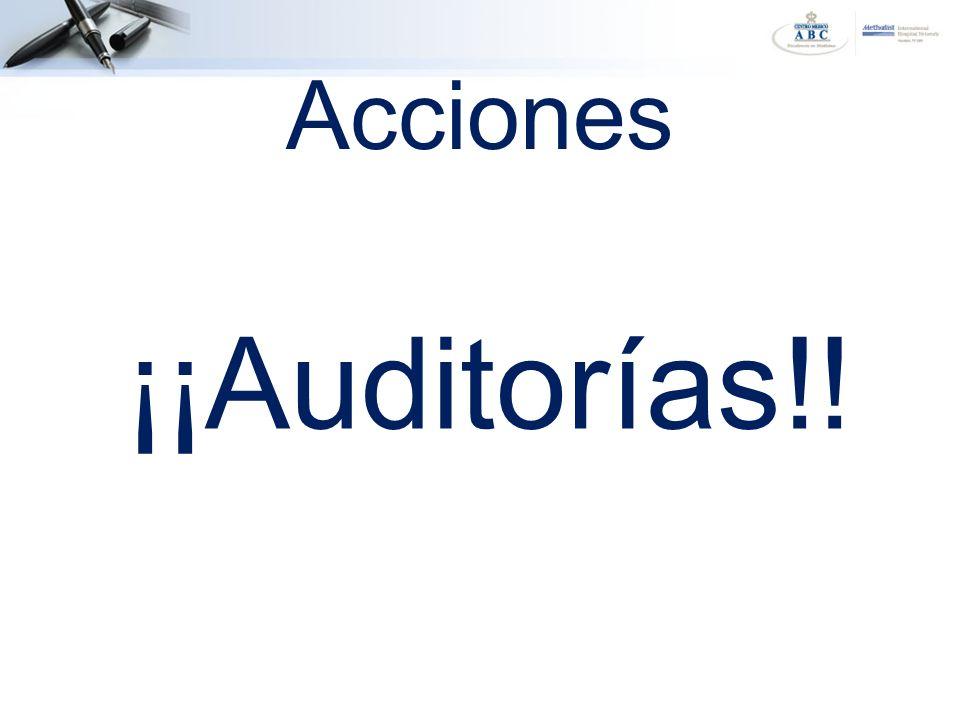 ¡¡Auditorías!! Acciones