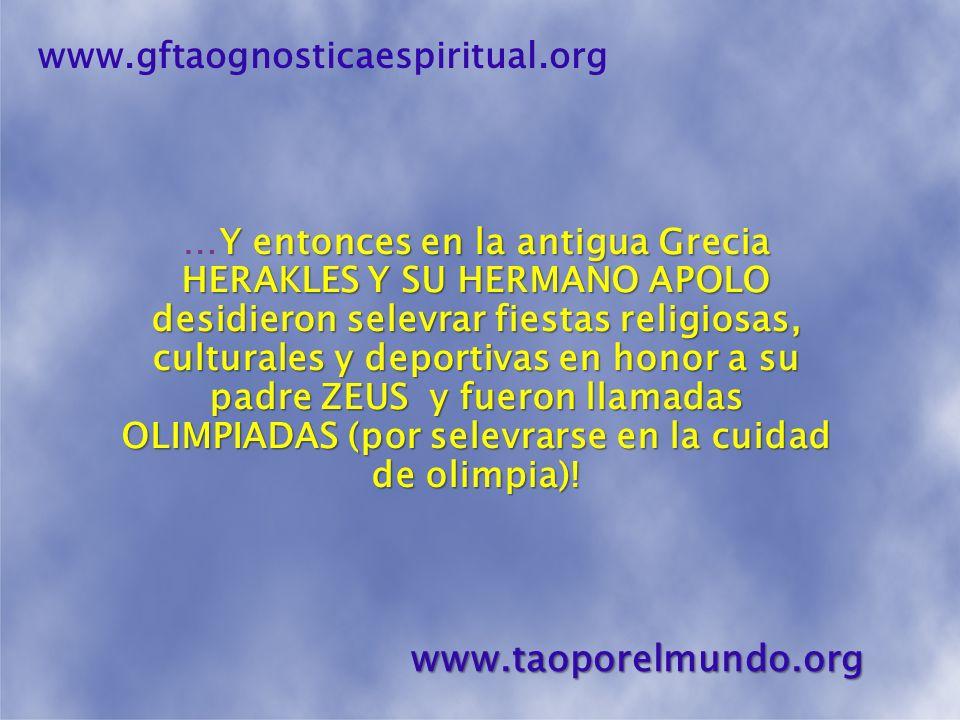 OLIMPIADAS! www.gftaognosticaespiritual.orgwww.taoporelmundo.org