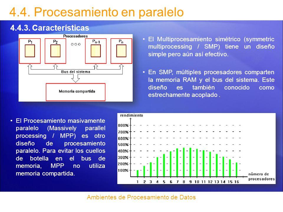 Introducción 4.4.Procesamiento en paralelo 4.4.4.