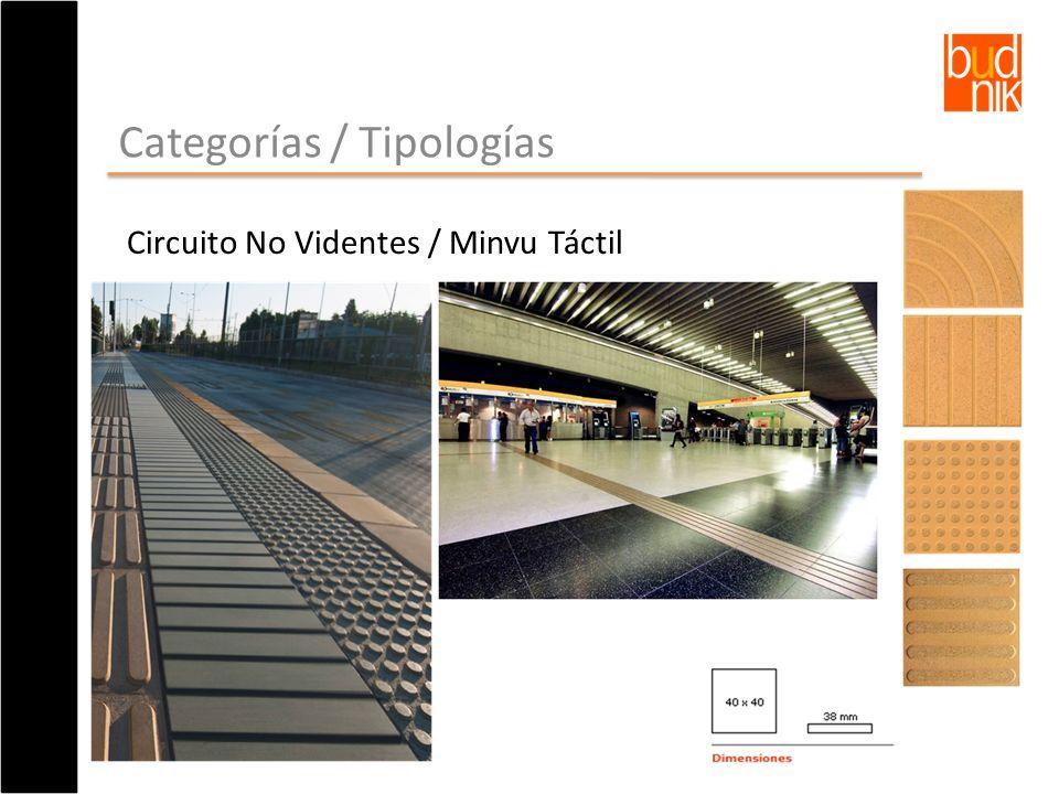 Categorías / Tipologías Circuito No Videntes / Minvu Táctil