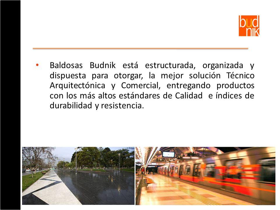 Baldosas Budnik está estructurada, organizada y dispuesta para otorgar, la mejor solución Técnico Arquitectónica y Comercial, entregando productos con