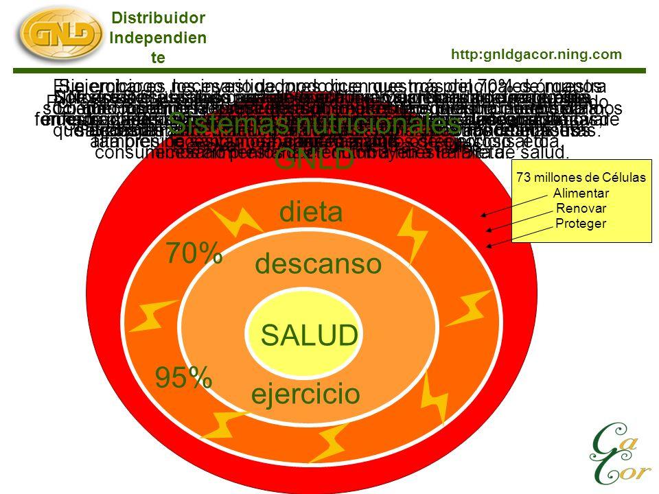Para empezar hay que obtener suficiente descanso. Distribuidor Independien te http:gnldgacor.ning.com SALUD descanso ejercicio dieta No existe substit