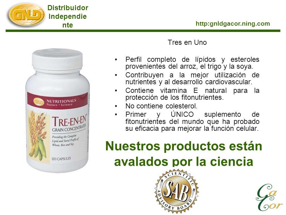 Tres en Uno Perfil completo de lípidos y esteroles provenientes del arroz, el trigo y la soya.