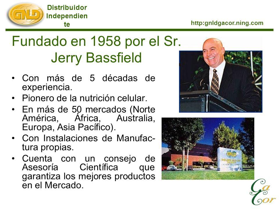 Con más de 5 décadas de experiencia. Pionero de la nutrición celular. En más de 50 mercados (Norte América, África, Australia, Europa, Asia Pacífico).