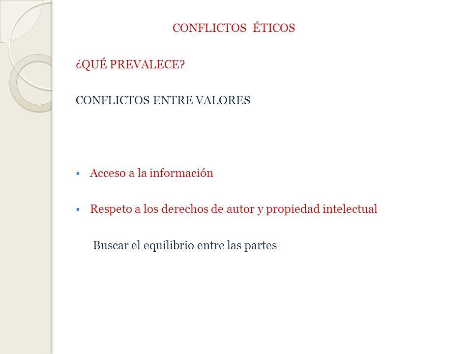 CONFLICTOS ÉTICOS ¿QUÉ PREVALECE.