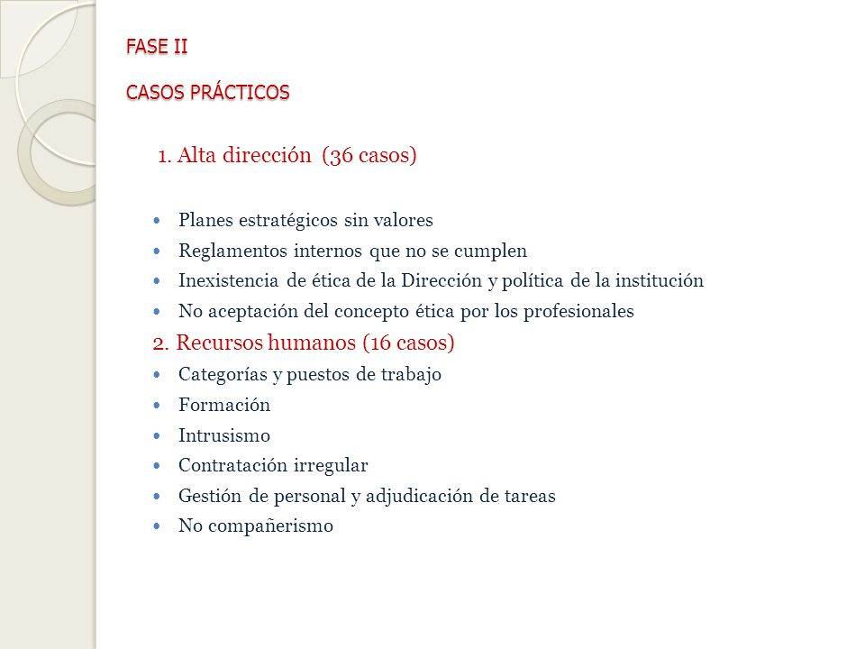 FASE II CASOS PRÁCTICOS FASE II CASOS PRÁCTICOS 1.