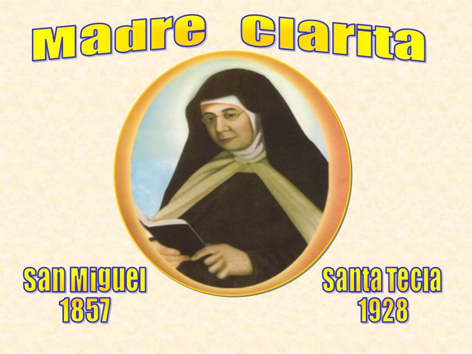 Nació en la ciudad de San Miguel el 12 de agosto de 1857, día que la Iglesia celebra la memoria de Santa Clara.