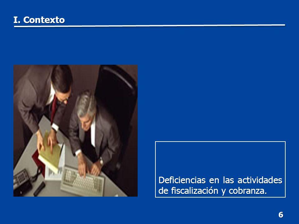 7 Esquemas de fiscalización con base en modelos de riesgo en desarrollo. I. Contexto