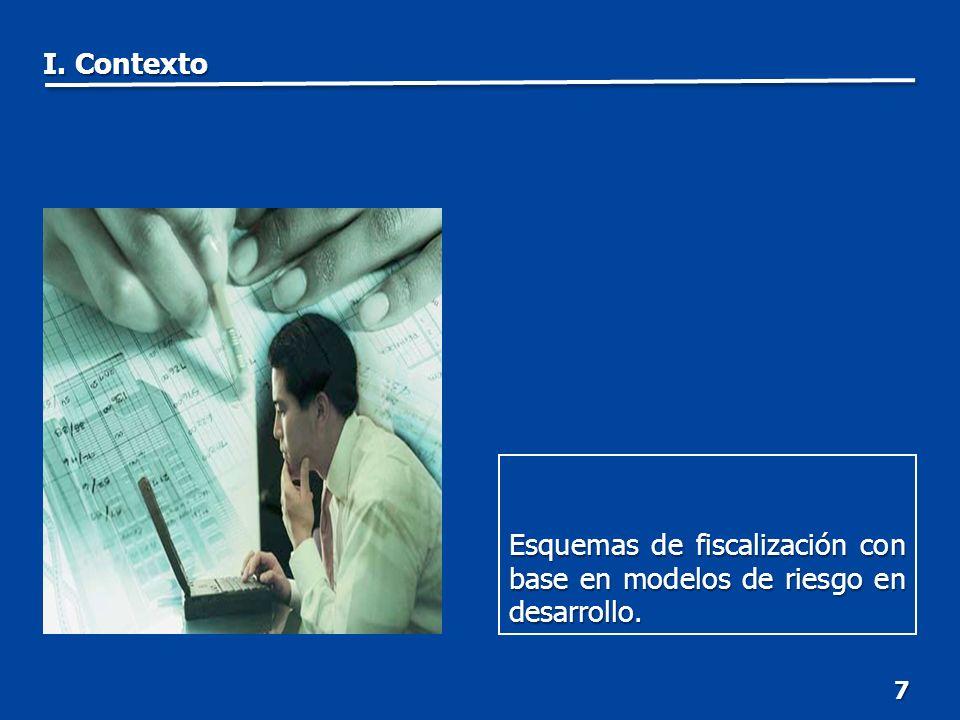 18 Combatir la evasión con la identificación de sectores o grupos de contribuyentes de riesgo, así como de las causas que la propician.