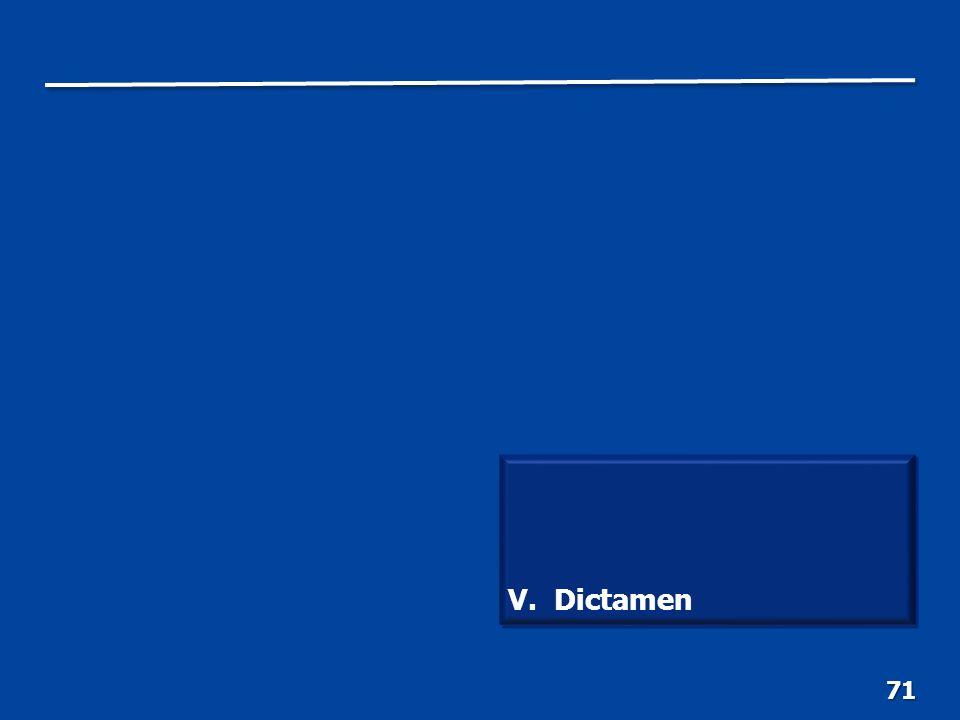 71 V. Dictamen