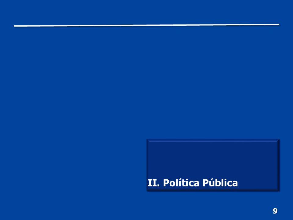 10 Contar con una hacienda pú- blica responsable, eficiente y equitativa. II. Política Pública