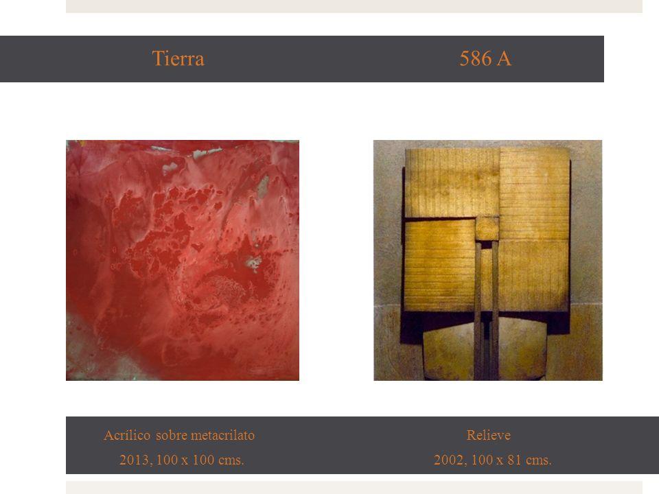 Viento 744 A Acrílico sobre metacrilato Relieve 2013, 120 x 120 cms. 2006, 100 x 80 cms.