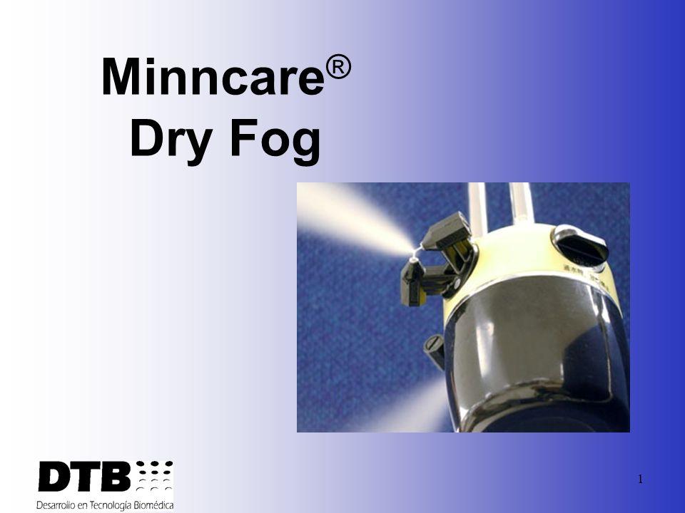 61 Mejor Dispersion Al ser aplicado Minncare al 4% en vapor se dispersa a travez del cuarto de forma mas completa que una nube liquida.