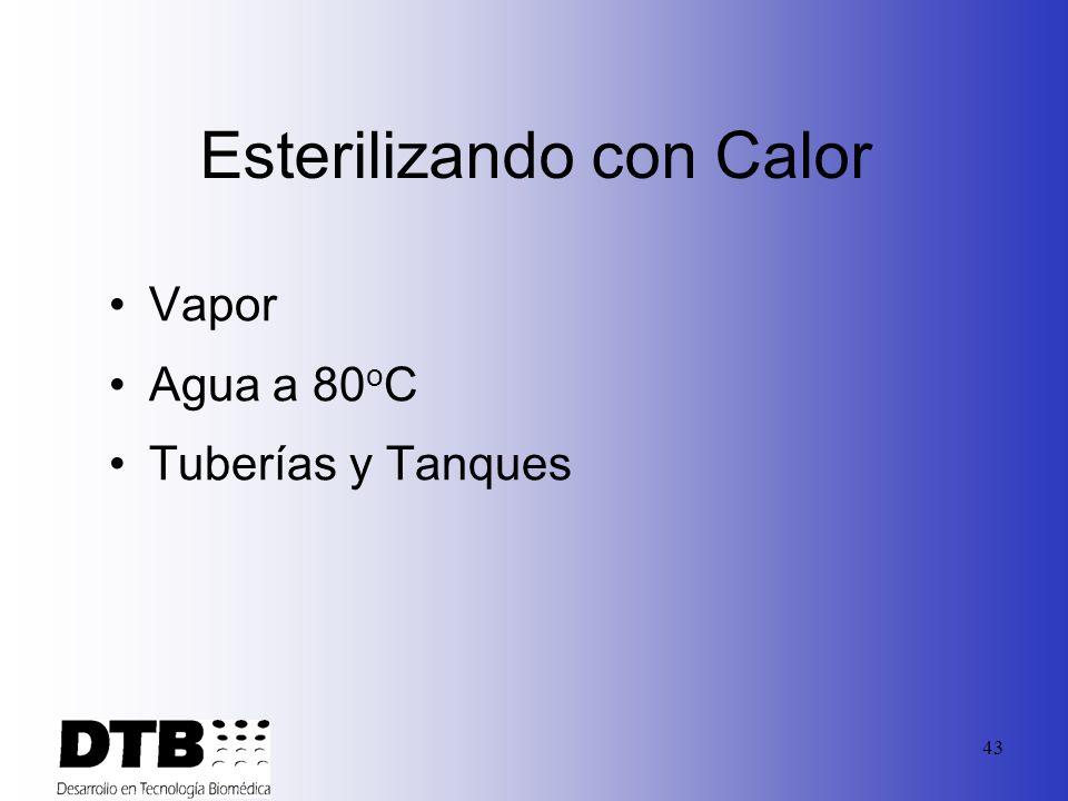 42 Sanitizantes mas comunes Calor Químicos Radiación
