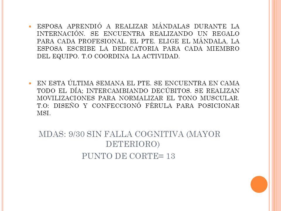 ESPOSA APRENDIÓ A REALIZAR MÁNDALAS DURANTE LA INTERNACIÓN. SE ENCUENTRA REALIZANDO UN REGALO PARA CADA PROFESIONAL. EL PTE. ELIGE EL MÁNDALA, LA ESPO