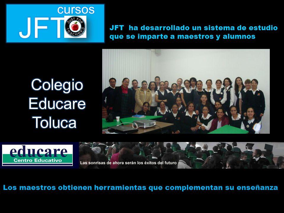 JFT ha desarrollado un sistema de estudio que se imparte a maestros y alumnos Los maestros obtienen herramientas que complementan su enseñanza