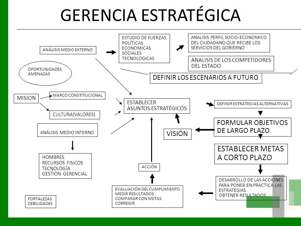 GERENCIA ESTRATÉGICA ANÁLISIS MEDIO EXTERNO ESTUDIO DE FUERZAS POLÍTICAS ECONOMICAS SOCIALES TECNOLOGICAS ANALISIS PERFIL SOCIO-ECONOMICO DEL CIUDADAN