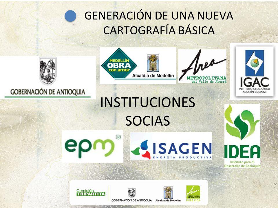 INSTITUCIONES SOCIAS GENERACIÓN DE UNA NUEVA CARTOGRAFÍA BÁSICA